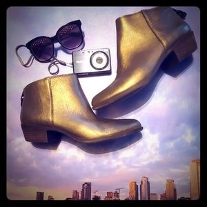 Gold Lucky Brand Ankle Boots